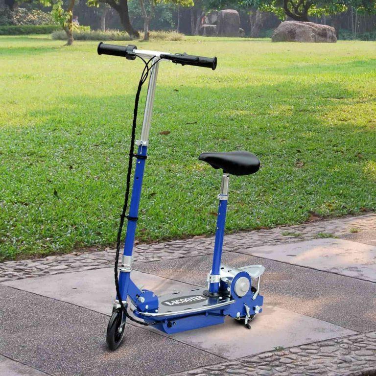 patinete eléctrico azul
