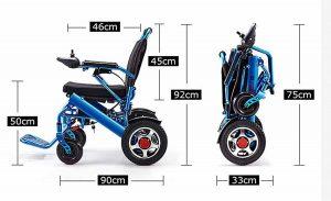silla de ruedas eléctrica plegable medidas