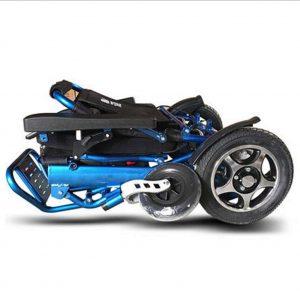silla de ruedas eléctrica plegada