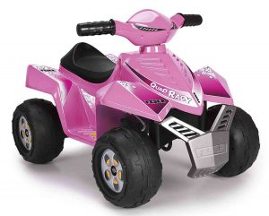 quad electrico rosa