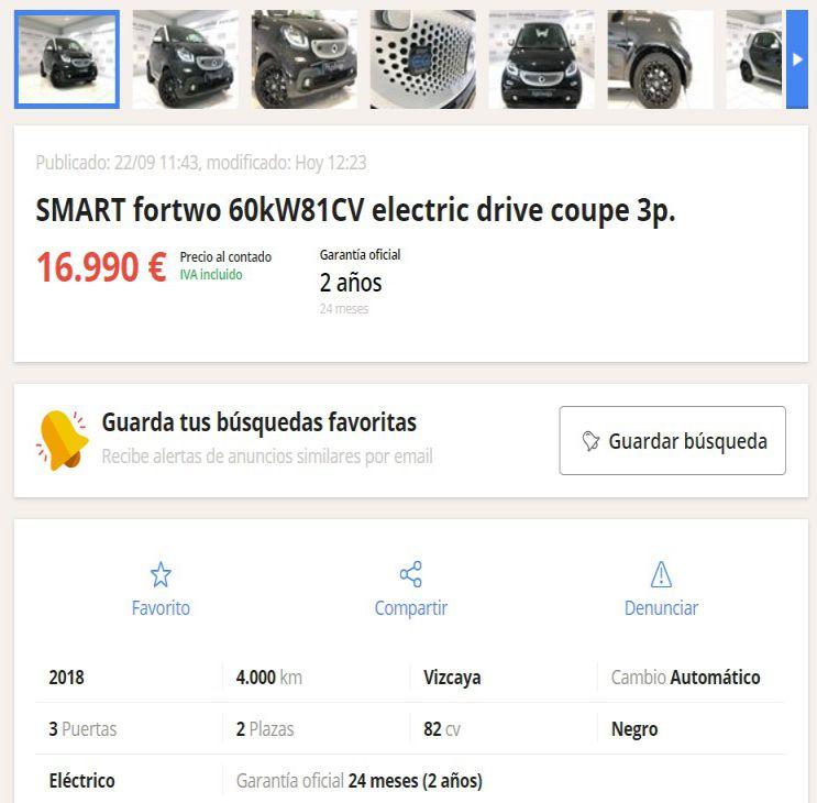 coches eléctricos segunda mano