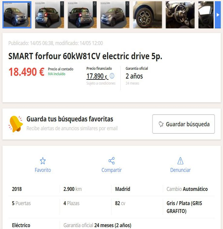 coches electricos segunda mano madrid