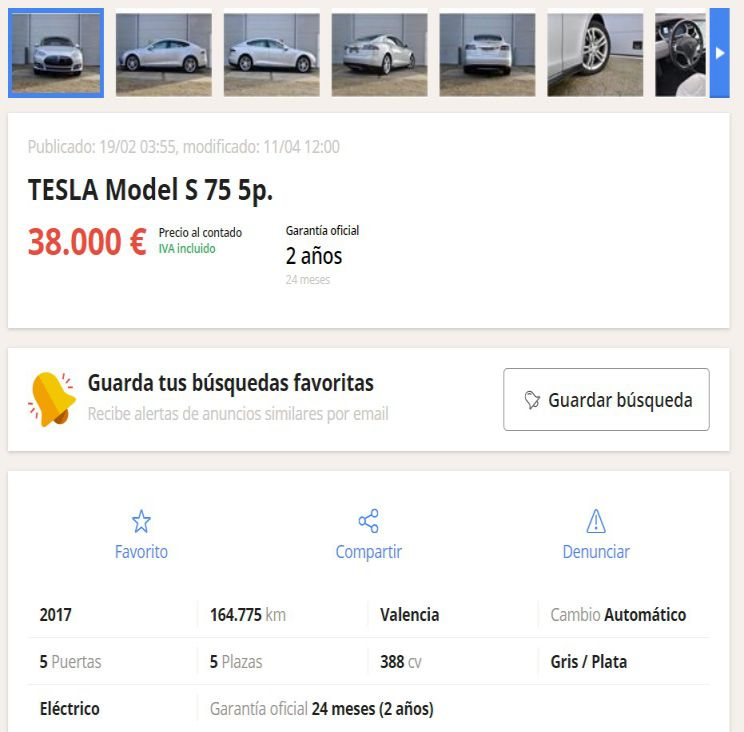 coches electricos segunda mano milanuncios