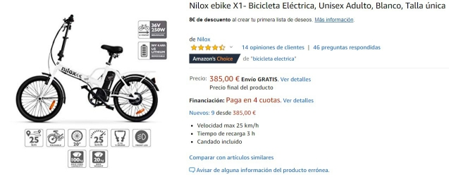 Bicicleta paseo Amazon