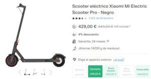 mi electric scooter pro barato