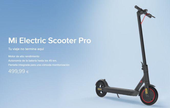 xiaomi mi electric scooter pro precio